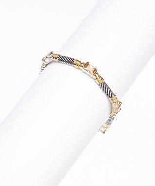 Cubic Zirconia & Silver Stud Earrings