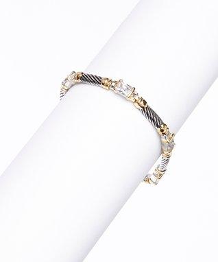 Cubic Zirconia Round Earrings & Pendant Necklace