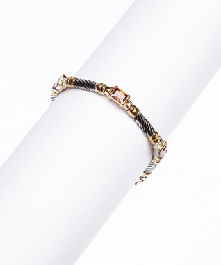 Cubic Zirconia & Gold Stud Earrings
