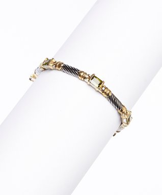 Garnet & Gold Baguette Bracelet