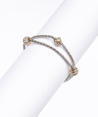 Cubic Zirconia & Silver Ball Bracelet