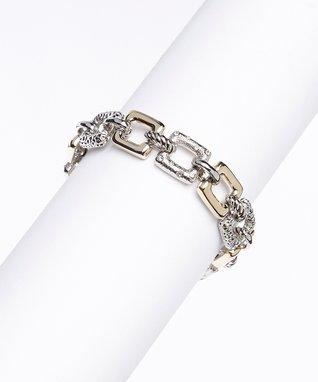 Gold & Silver Square Link Bracelet