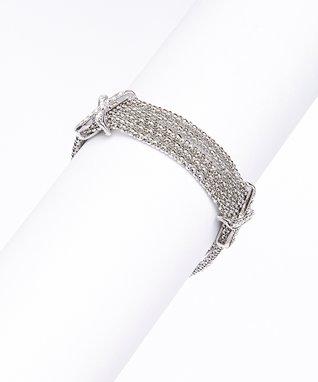 Cubic Zirconia Circle Stud Earrings & Pendant Necklace