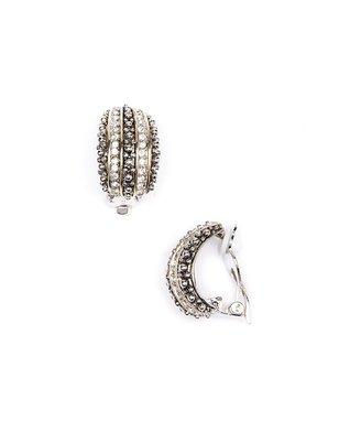 Coral & Silver Twist Dome Cuff