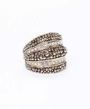 Cubic Zirconia & Silver Bubble Ring