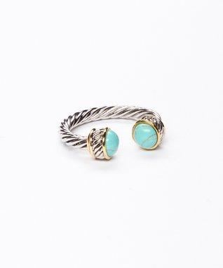 Turquoise Twist Cuff Ring