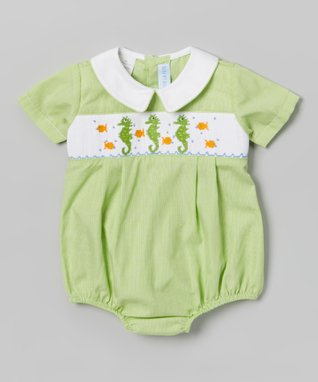 Vive La Fête Smocked Bunny & Chicks Bubble Bodysuit - Infant