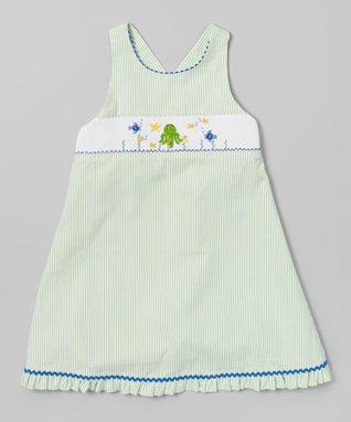 Vive La Fête Green Sea Horse Bubble Bodysuit - Infant