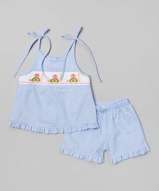 Vive La Fête Blue Turtle Tank & Shorts - Infant, Toddler & Girls