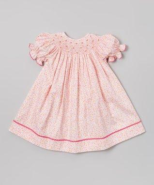 Vive La Fête Pink Bunny & Chick Smocked Bishop Dress - Infant, Toddler & Girls