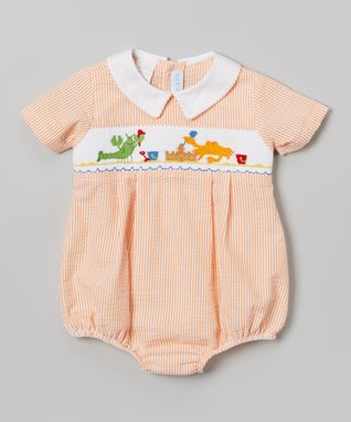 Vive La Fête Green Smocked Christy Silk Bishop Dress - Infant, Toddler & Girls