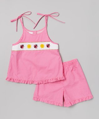 Vive La Fête Orange Stripe Crab Tank & Shorts - Infant, Toddler & Girls