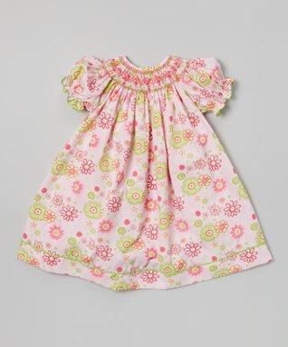 Vive La Fête Orange Smocked Beach Cross Back Dress - Infant, Toddler & Girls
