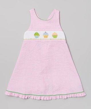 Vive La Fête Pink Smocked Ladybug Tie Top & Shorts - Infant, Toddler & Girls