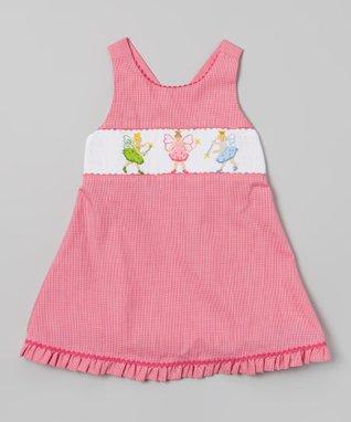 Vive La Fête Pink Smocked Fairy Cross Back Dress - Infant, Toddler & Girls