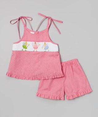 Vive La Fête Pink Smocked Cupcake Bishop Dress - Infant, Toddler & Girls