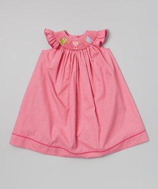 Vive La Fête Pink Smocked Fairy Bishop Dress - Infant, Toddler & Girls