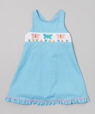 Vive La Fête Blue Butterfly Swing Dress - Infant, Toddler & Girls