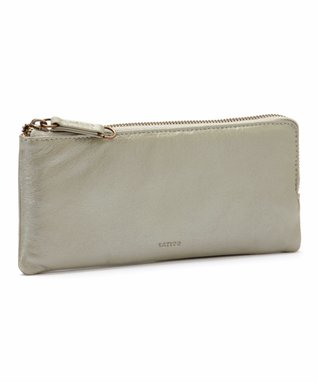 Latico Leather Metallic Gray Carla Zip Wallet