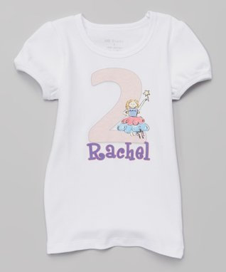 White Birthday Personalized Tee - Infant, Toddler & Girls