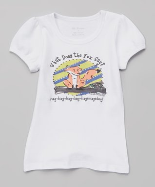 White 'What Does the Fox Say' Tee - Infant, Toddler & Girls