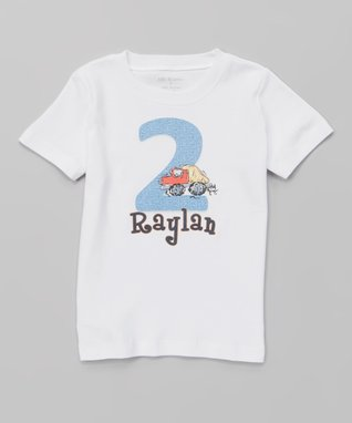 White Birthday Personalized Tee - Infant, Toddler & Boys
