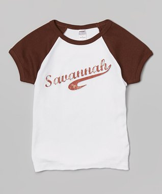 Brown Personalized Raglan Tee - Infant, Toddler & Boys