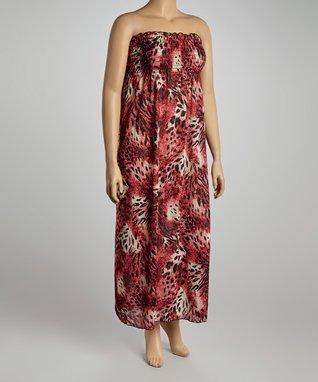 Tan Safari Swirl Tunic Dress - Women & Plus