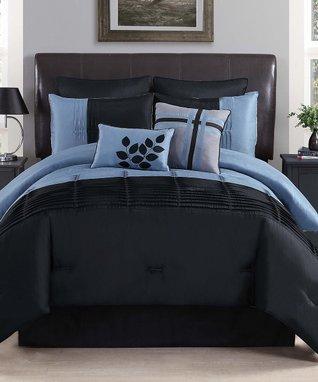 Gray Zigfield Comforter Set