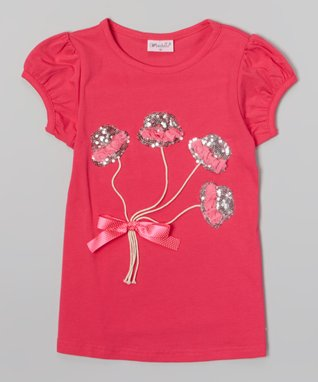Hot Pink Bouquet Tee - Infant, Toddler & Girls