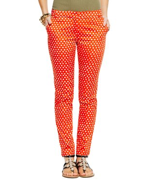 C. Wonder Lava & Sand Stretch Sateen African Dot Skinny Pants