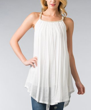Off-White Braided Sleeveless Shift Tunic - Women