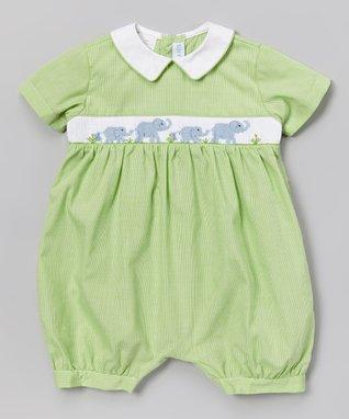 Vive La Fête White Geometric Smocked Angel-Sleeve Dress - Infant & Toddler