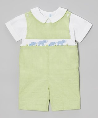 Vive La Fête White Geometric Smocked Romper - Infant