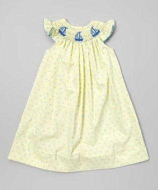 Yellow Smocked Sailing Bishop Dress - Infant, Toddler & Girls