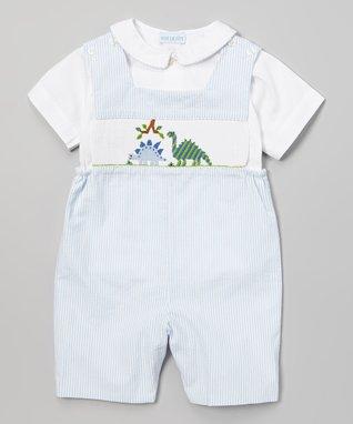Vive La Fête Green Smocked Strawberry Bishop Dress - Infant, Toddler & Girls