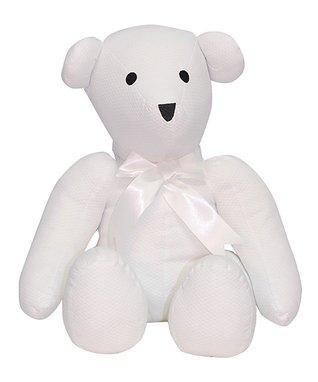 Blue Check Teddy Bear