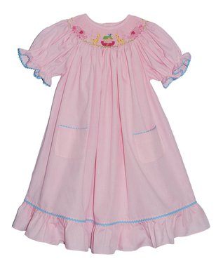 Betti Terrell Red Polka Dot Puff-Sleeve Dress - Infant, Toddler & Girls