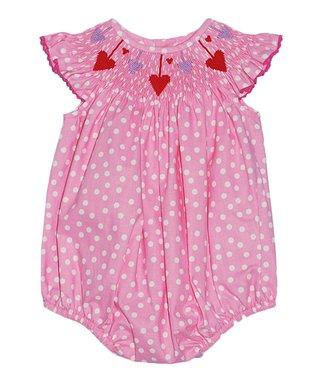 Vive La Fête Pink Bunnies & Chicks Smocked Dress - Infant