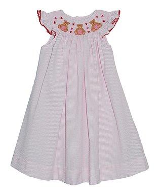 Vive La Fête Pink Smocked Fairy Tie Top & Shorts - Infant & Toddler