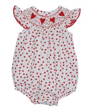 Vive La Fête Pink Smocked Ladybug Bishop Dress - Infant, Toddler & Girls