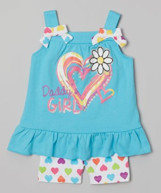 Blue 'Daddy's Girl' Tunic & Shorts - Infant & Toddler