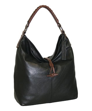 Nino Bossi Handbags Black Fresno Leather Hobo