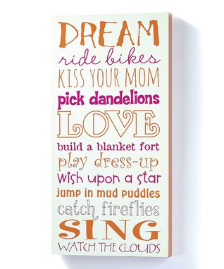 Girl Dreams Wall Sign