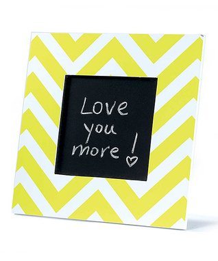 Yellow Zigzag Tabletop Chalkboard