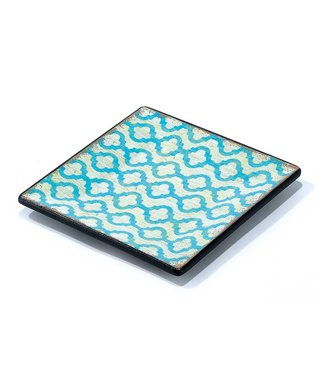 Blue & Yellow Geometric Tray