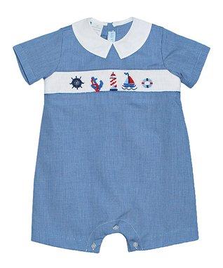 Blue Gingham Bugs John Johns & Top - Infant & Toddler