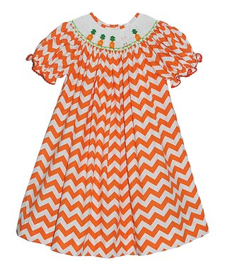 Vive La Fête Orange Zigzag Carrot Tank & Capri Pants - Infant & Toddler