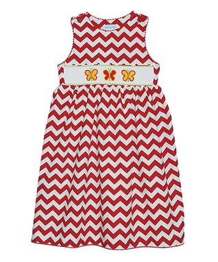 Vive La Fête Red Zigzag Butterfly Tank & Capri Pants - Infant & Toddler