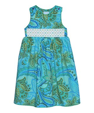 Vive La Fête Red Zigzag Butterfly Button Dress - Toddler & Girls